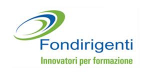 Logo di Fondirigenti, fondo interprofessionale che mette a disposizione delle imprese risorse finanziarie per favorire lo sviluppo della cultura manageriale, offre un sistema integrato di servizi per la competitività delle aziende, l'occupabilità e la crescita della classe dirigente.