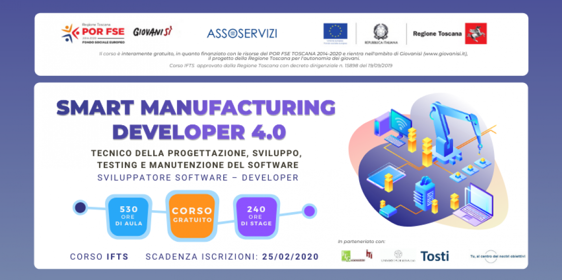 Corso IFTS Gratuito – Smart Manufacturing Developer 4.0