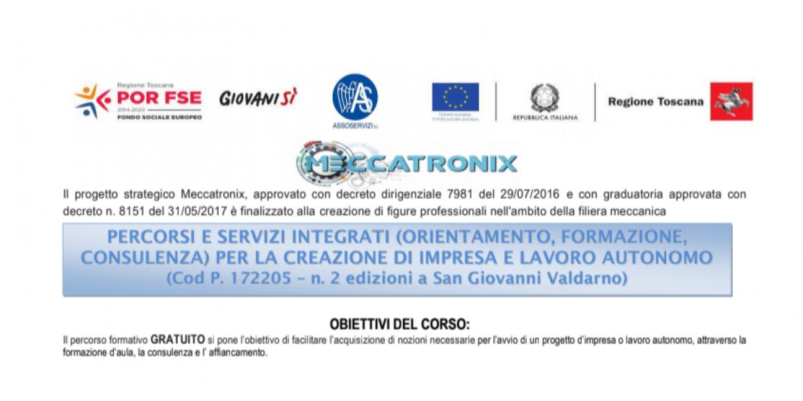 Meccatronix – Percorsi e Servizi Integrati per la Creazione Di Impresa