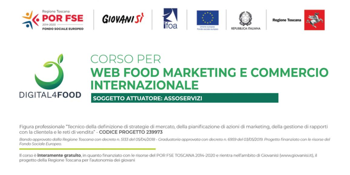 Corso gratuito in Web Food Marketing e Commercio Internazionale