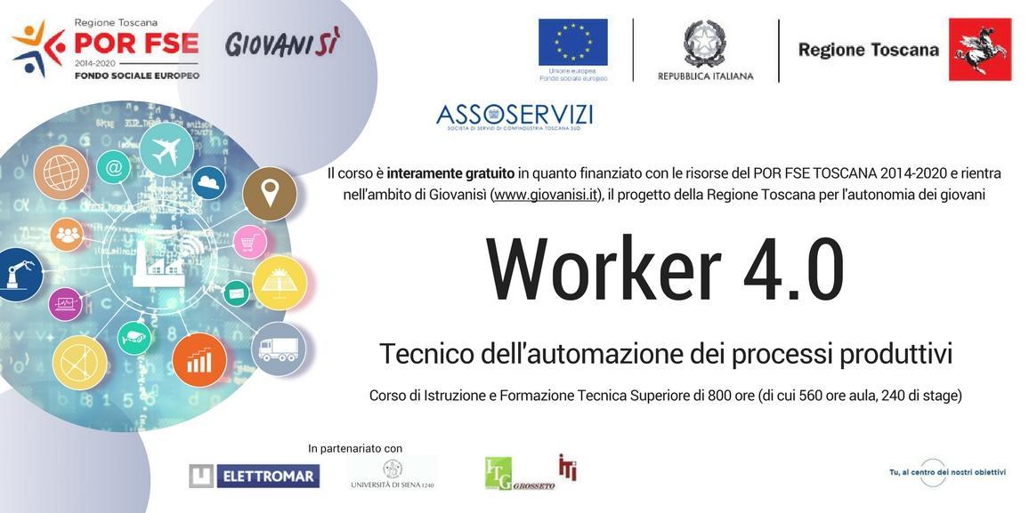 IFTS Worker 4.0 – Tecnico dell'automazione dei processi produttivi