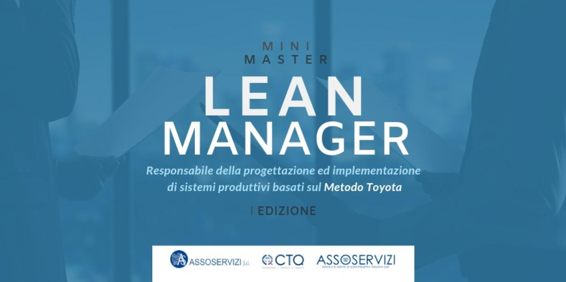 Mini Master LEAN MANAGER – I Edizione