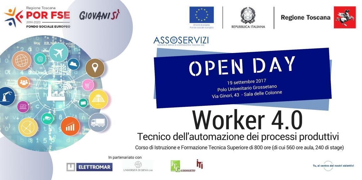 Corso gratuito IFTS Worker 4.0 Open Day di presentazione