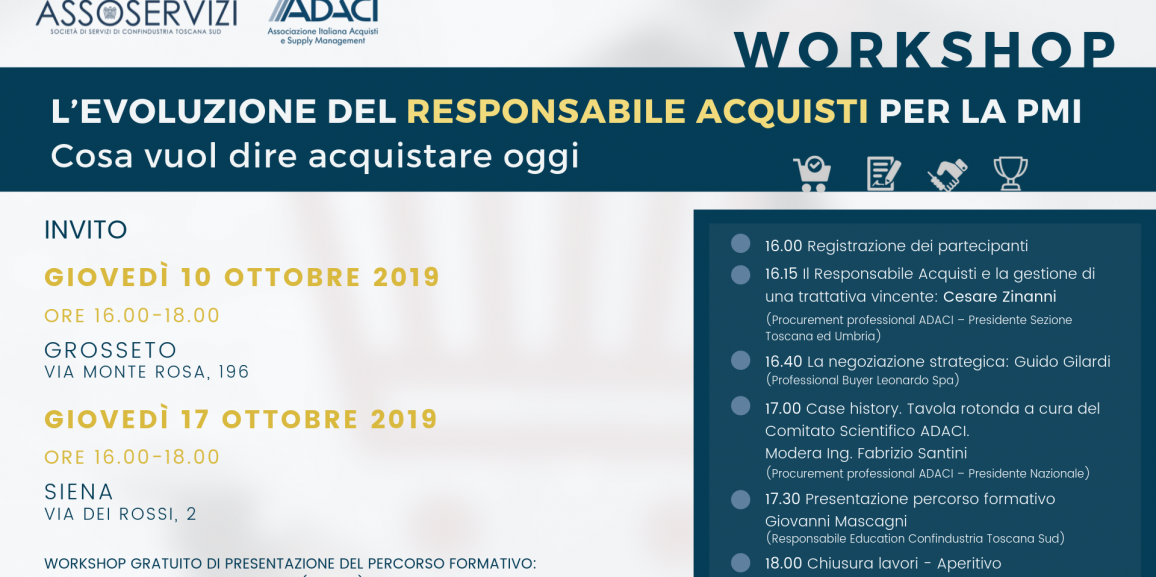 Workshop – L'Evoluzione del Responsabile Acquisti per la PMI