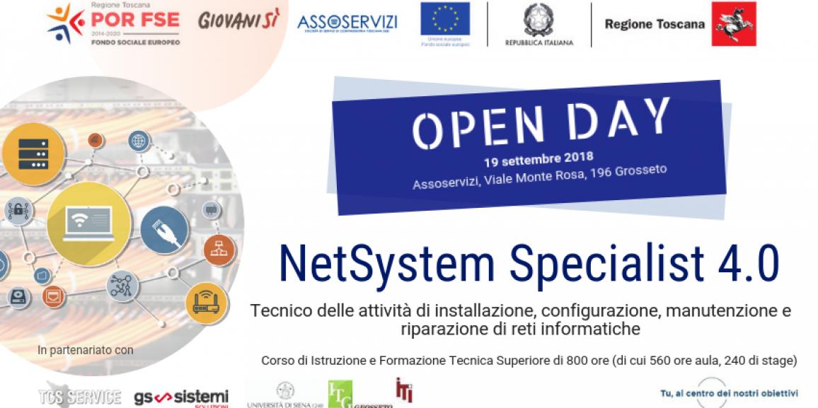 Corso gratuito IFTS NetSystem Specialist 4.0 – Open Day di presentazione