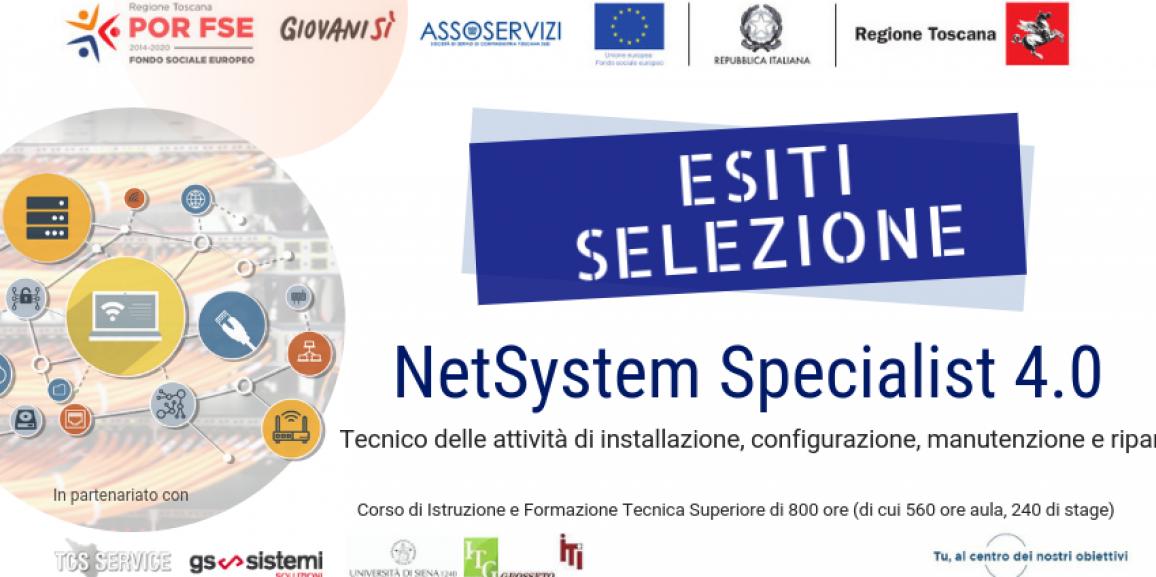 Esiti Selezione IFTS NetSystem Specialist 4.0 – Tecnico delle attività di installazione, configurazione, manutenzione e riparazione di reti informatiche