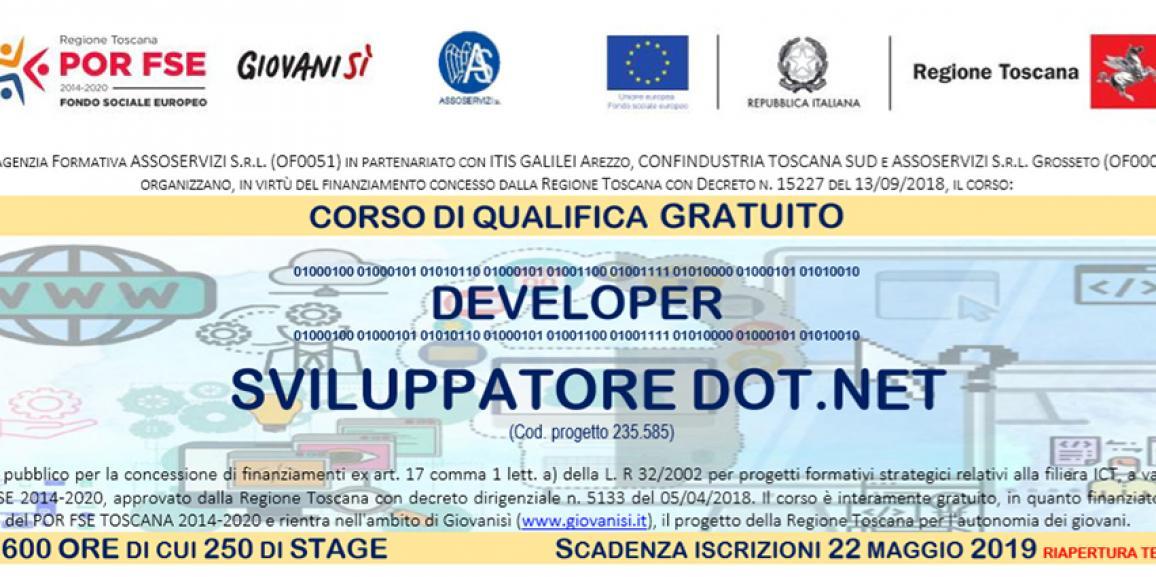 DEVELOPER – Corso Gratuito Sviluppatore DOT.NET