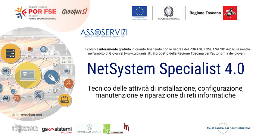 IFTS NetSystem Specialist 4.0 – Tecnico delle attività di installazione, configurazione, manutenzione e riparazione di reti informatiche