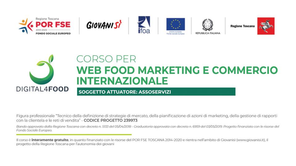 Corso gratuito in Web Food Marketing e Commercio Internazionale