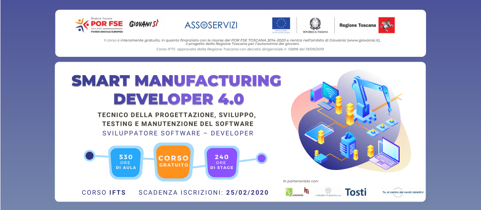 Corso IFTS Gratuito – Smart Manufacturing Developer 4.0