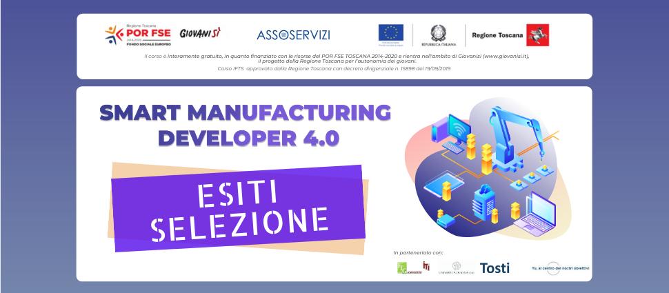 Esiti selezione corso Smart Manufacturing Developer 4.0